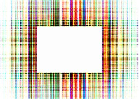 Wide multicoloured faded rough lines frame with white copy space Imagens