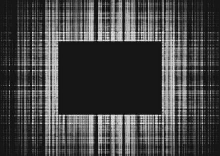 Wide black and white faded rough lines frame with black copy space
