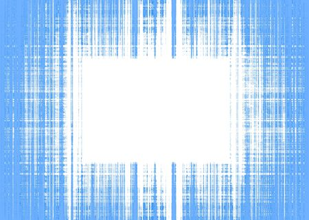 Wide blue and white rough lines frame with white copy space