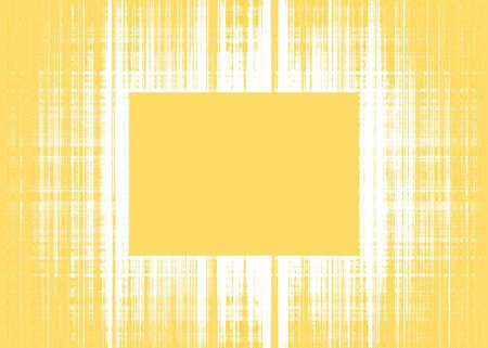 Wide yellow and white rough lines frame with yellow copy space Imagens