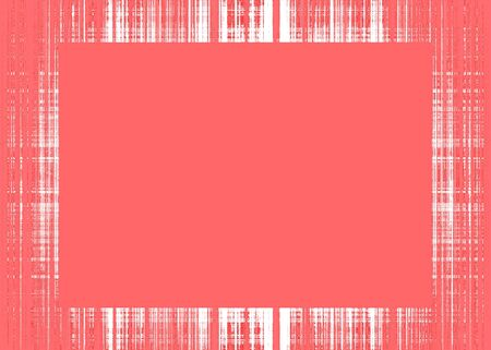 Thin red rough lines frame with red copy space