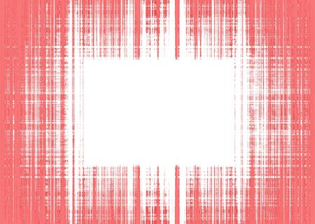 Wide red and white rough lines frame with white copy space Imagens