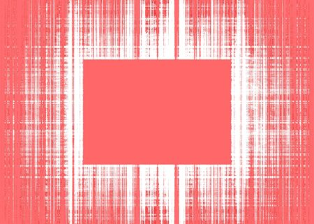 Wide red and white rough lines frame with red copy space Banque d'images