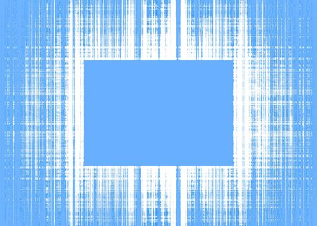 Wide blue and white rough lines frame with blue copy space