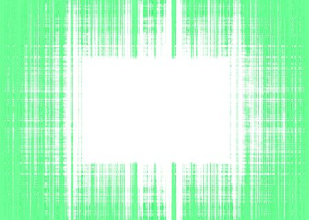 Wide green and white rough lines frame with white copy space Imagens