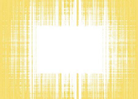 Wide yellow and white rough lines frame with white copy space