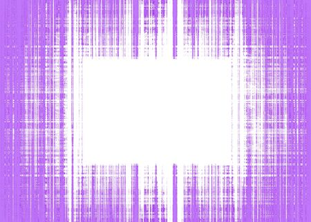 Wide purple and white rough lines frame with white copy space Banque d'images
