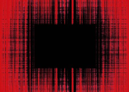 Wide red and black rough lines frame with black copy space Banque d'images