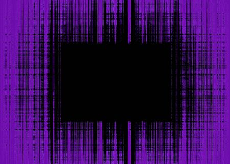 Wide purple and black rough lines frame with black copy space