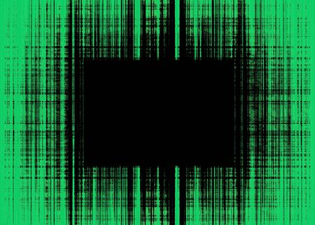 Wide green and black rough lines frame with black copy space