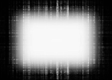 Black and white glowing rough lines frame with black copy space