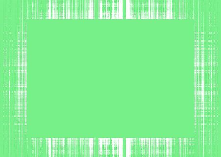 Thin green rough lines frame with green copy space Imagens