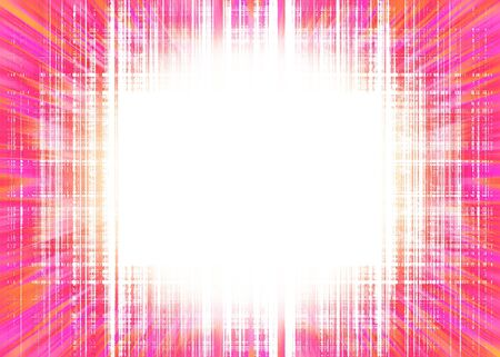 Colourful rough pink lines background and white circular spotlight with copy space