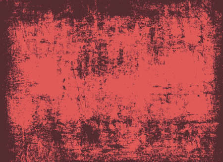Red scratched grunge wall background