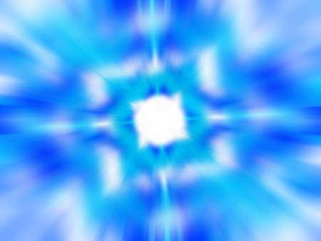 Cool blue and white blurred kaleidoscope pattern Standard-Bild