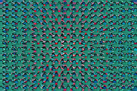 Retro green, red and blue ellipse pattern