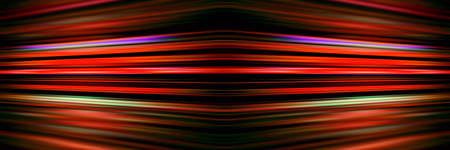 Colourful red light streaks on a black background
