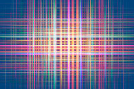 Colourful crossing light streaks on a dark blue background Standard-Bild