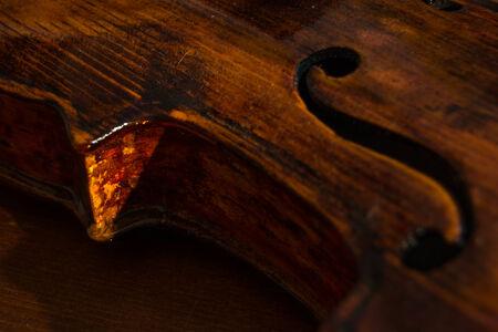 낡은 바이올린 상세