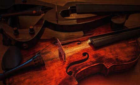violins: Violins old vs new Stock Photo