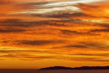 Sunset with Catalina Island
