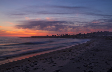 Sunset at San  Onofre Beach, San Clemente Stock Photo