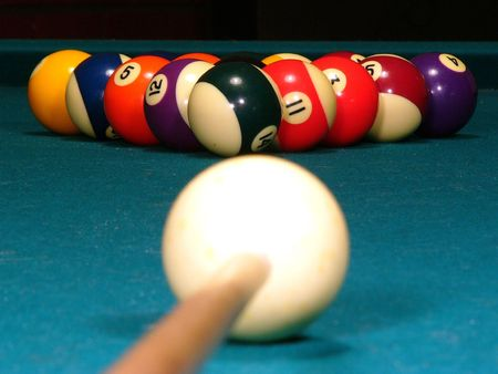 eightball: Billiards Stock Photo