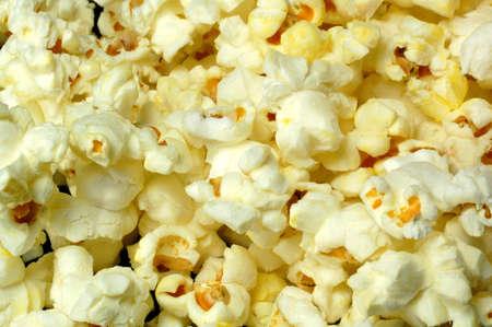 popped: A close-up of popped popcorn