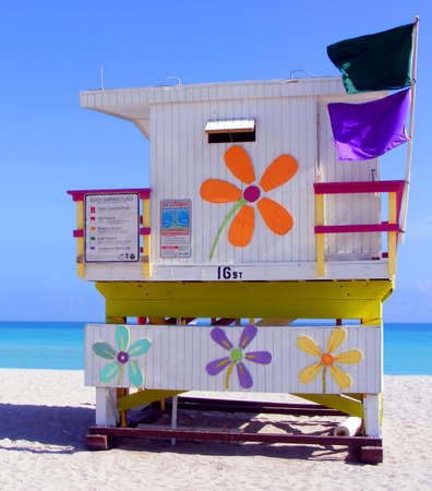 Colourful hut on Miami beach Stock Photo - 2930975