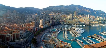 monaco: Panorama of Monaco harbour