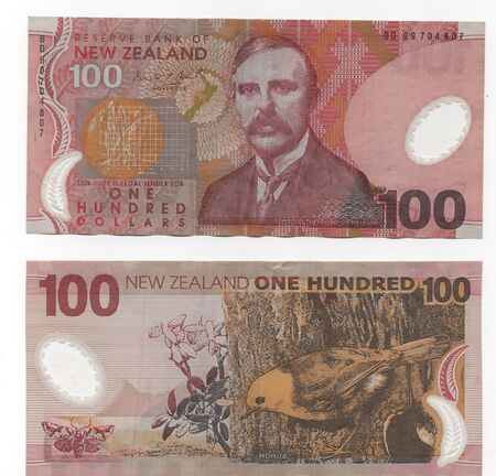 High Resolution New Zealand $100 banknotes photo