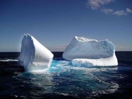 winter escape:  A melting iceberg