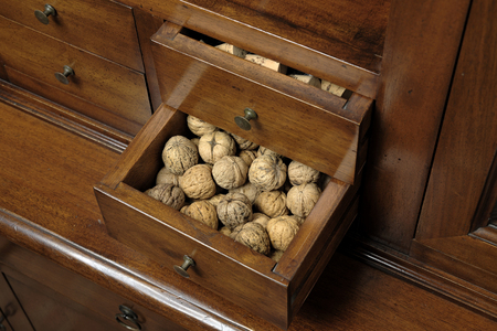 pantry: pantry for nuts Stock Photo