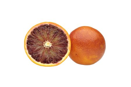 glycol: cut orange on white background Stock Photo
