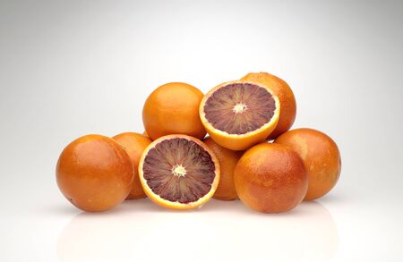 glycol: group cut oranges Stock Photo