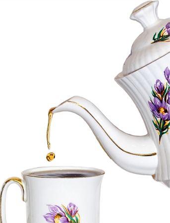 coffeebreak: A drop of tea Stock Photo