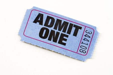 admit one: Admit one ticket isolated Stock Photo