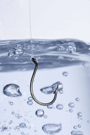 Hook in water