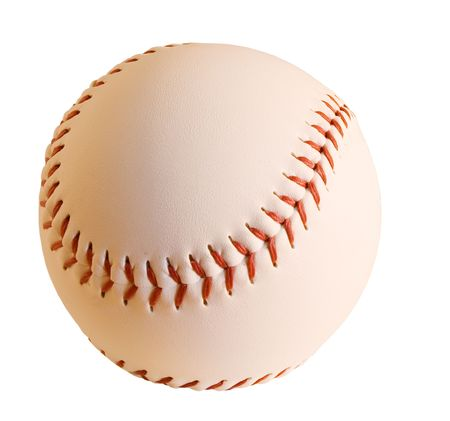 hardball: Baseball with clipping path