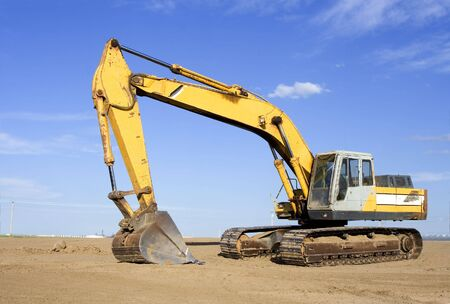 Back hoe on a work site