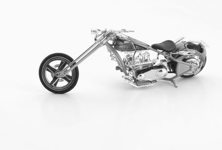 Detailed toy motorcycle