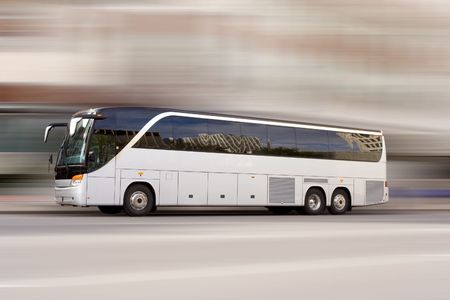 Tour bus with added motion blur Stock Photo - 538534