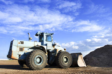 front end: A front end loader at the work site