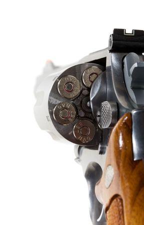magnum: Un revolver 357 magnum isol�e sur blanc