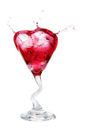 martini splash: A Cosmopolitan  martini splash on a white background