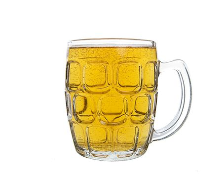 A large mug of light ale beer Imagens