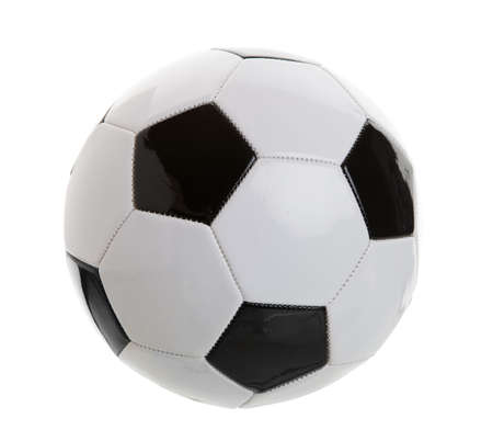 Black and white football on white background Stock Photo - 5200594
