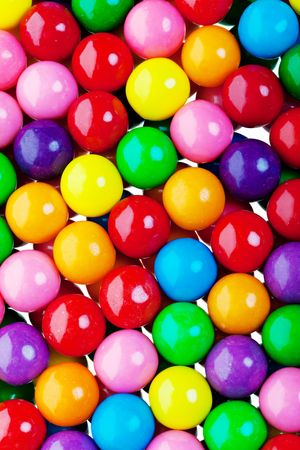 gumballs: A colorful candy gumball background