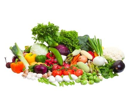 Vegetable arrangement on a white background. Zdjęcie Seryjne
