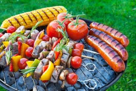 Summertime backyard barbecue cookout